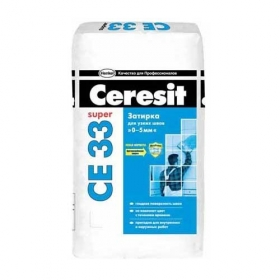 Затирка для швов Церезит СЕ33 серая (5кг) (1п 225шт) в кор.4шт