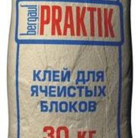 Клей Бергауф Практик для ячеистых блоков (30кг) (1п 48шт)