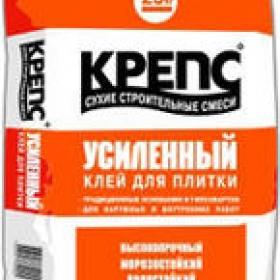 Клей Крепс усиленный (25кг) (1п 48шт)