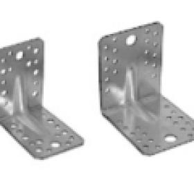 Крепежный уголок оцинкованный усиленный 90х90х65х2,0мм KUU-90х65 (25шт, 50ш