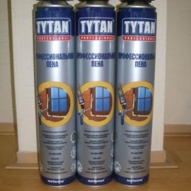 Пена монтажная Титан профессиональная 750мл(1кор=12шт) (палета 624 шт)