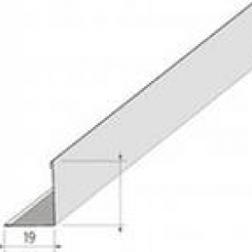 Плинтус белый 19х19 (3м) ABS 50шт.
