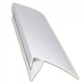 Профиль F-образный 10мм*3м белый широкий 60мм (30шт, 50шт)