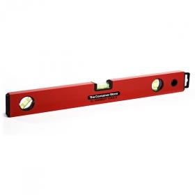 """Уровень алюминиевый """"Red"""" коробчатый корпус, линейка, 3 ампулы 80см (Ho"""