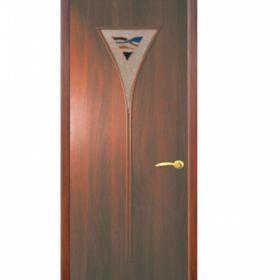 """Дверное полотно с покрытием ламинат  ДО """"ДО-04"""" Диамант  0,6м  (итал.орех)"""