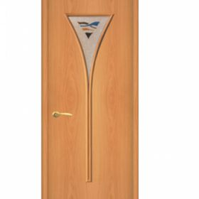 """Дверное полотно с покрытием ламинат  ДО """"ДО-04"""" Снег  0,6м  (мил.орех)"""
