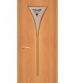 """Дверное полотно с покрытием ламинат  ДО """"ДО-04"""" Снег  0,8м  (мил.орех)"""