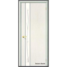 """Дверное полотно с покрытием ламинат  ДО """"Стиль -1"""" Ветка 0,6м  (бел.дуб)"""
