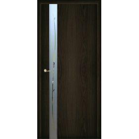 """Дверное полотно с покрытием ламинат  ДО """"Стиль -1"""" Ветка 0,6м  (венге)"""