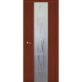 """Дверное полотно с покрытием ламинат  ДО """"Стиль -1"""" Ветка 0,6м  (итал.орех)"""