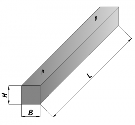 Железобетонные брусковые перемычки 2ПБ22-3-п 2200*120*140