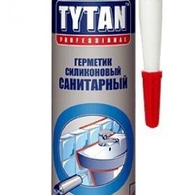 Герметик Титан санитарный прозрачный 310мл (1кор=12шт)(1пал=120кор)