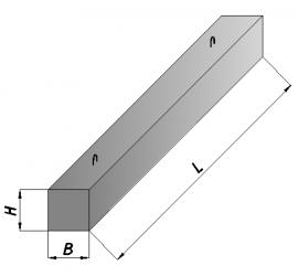 Железобетонные брусковые перемычки 2ПБ25-3-п 2460*120*140